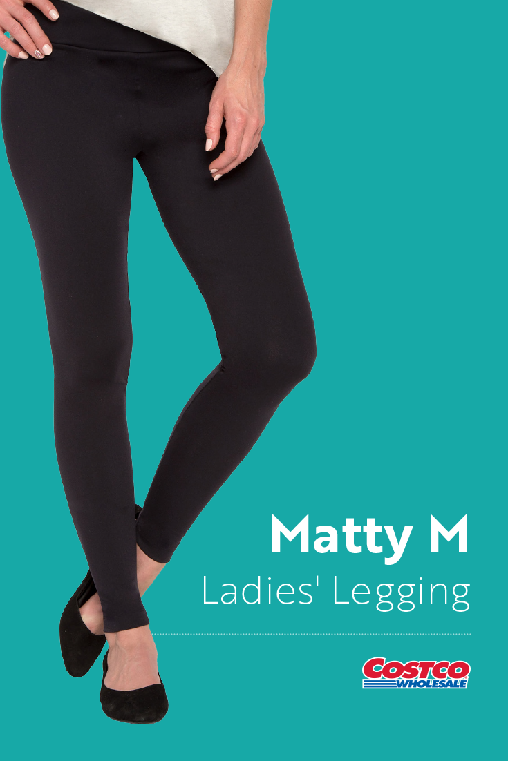 f209aabe654d4 Matty M Ladies' Legging Thicker MaterialWide Waist BandAssembled in the USA  Costco, Women's Leggings