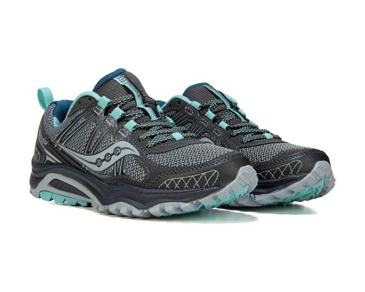 Saucony Excursion TR 10 Plush Trail Shoe Grey/Mint/Jewel size 11