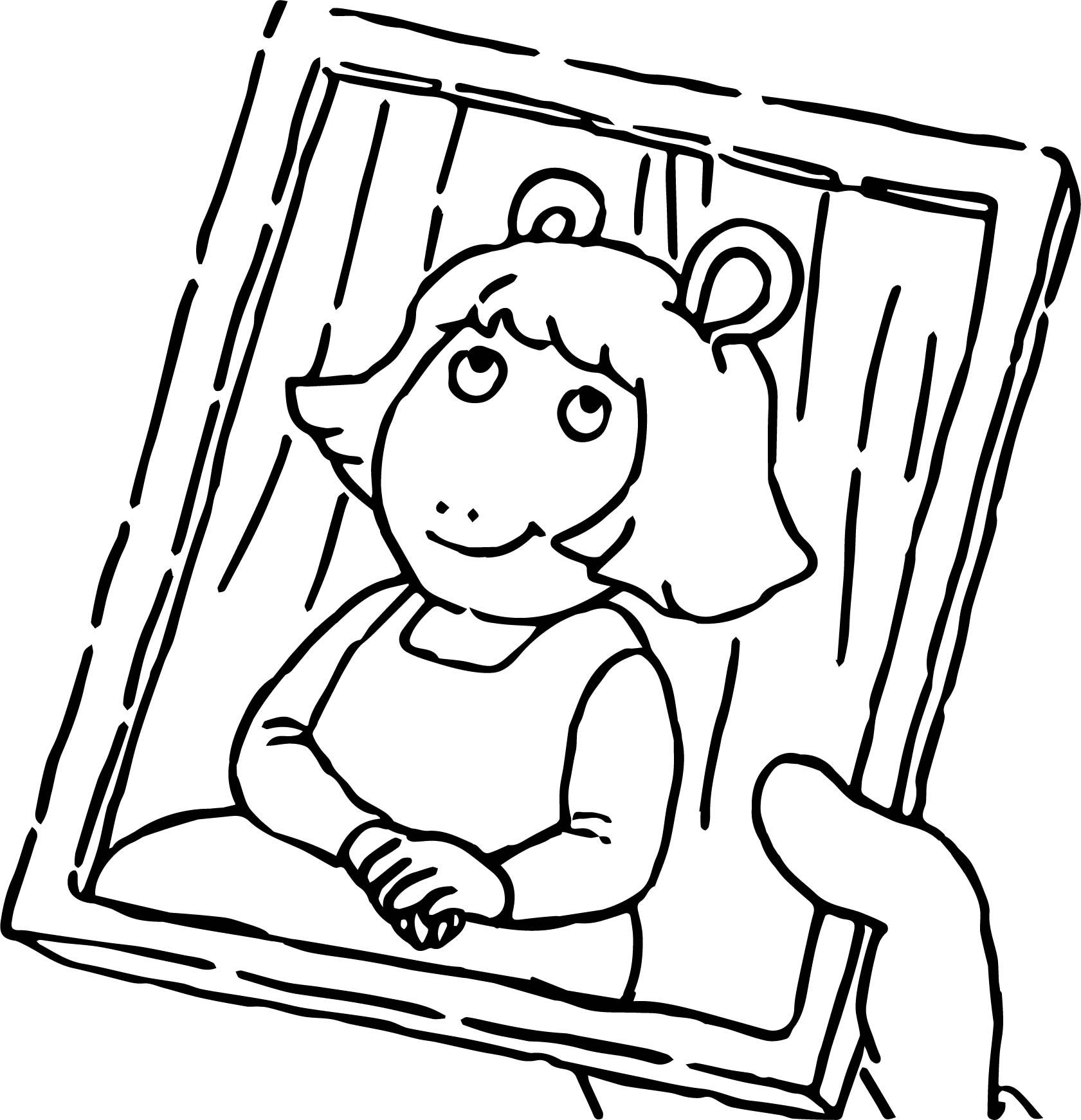 Cool Arthur Girl Photo Coloring Page