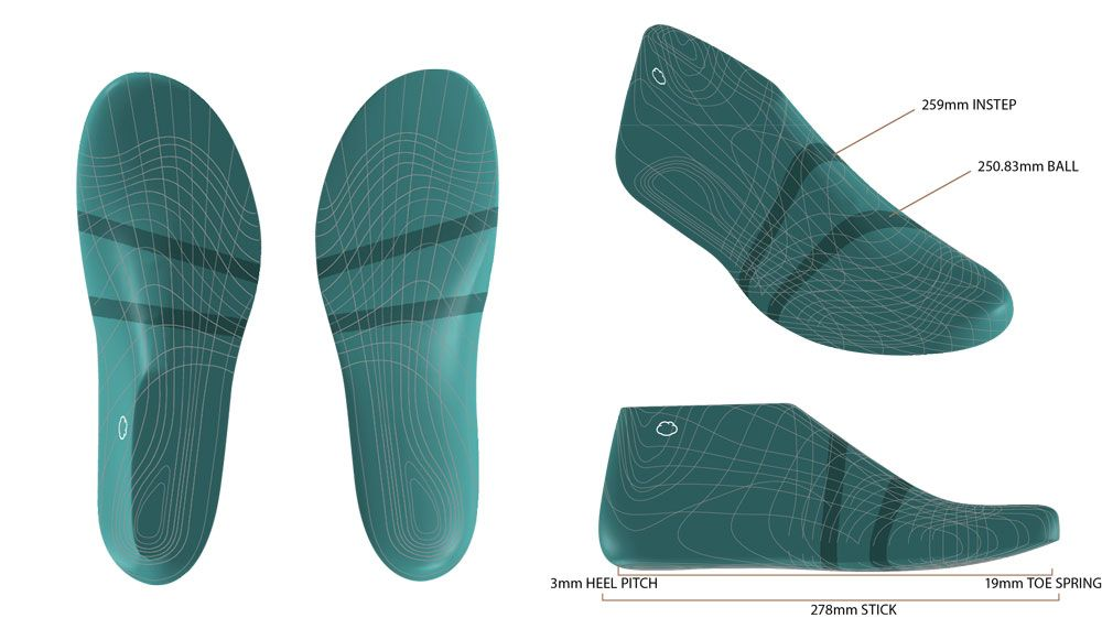 Our Bluprint Natural Fit Last Is Shaped Just Like Your Foot To