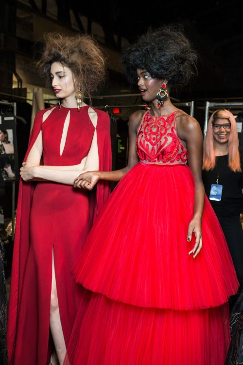 fashiondailymag:  red dress party.  naeem khan  ph @paulterrie x...