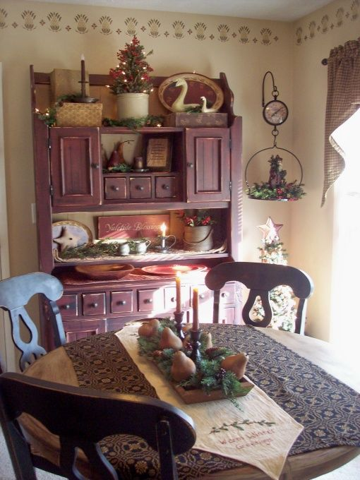 Primitive decorating ideas cozycoop 39 s primitive for Small country dining room ideas