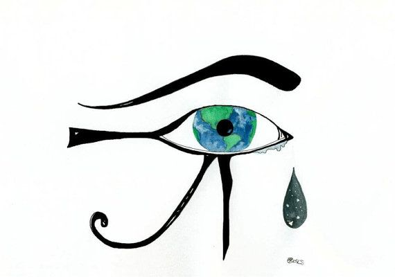 Eye of Horus Tattoo Design Original8x56 Prints Available by kroksg, $25.00