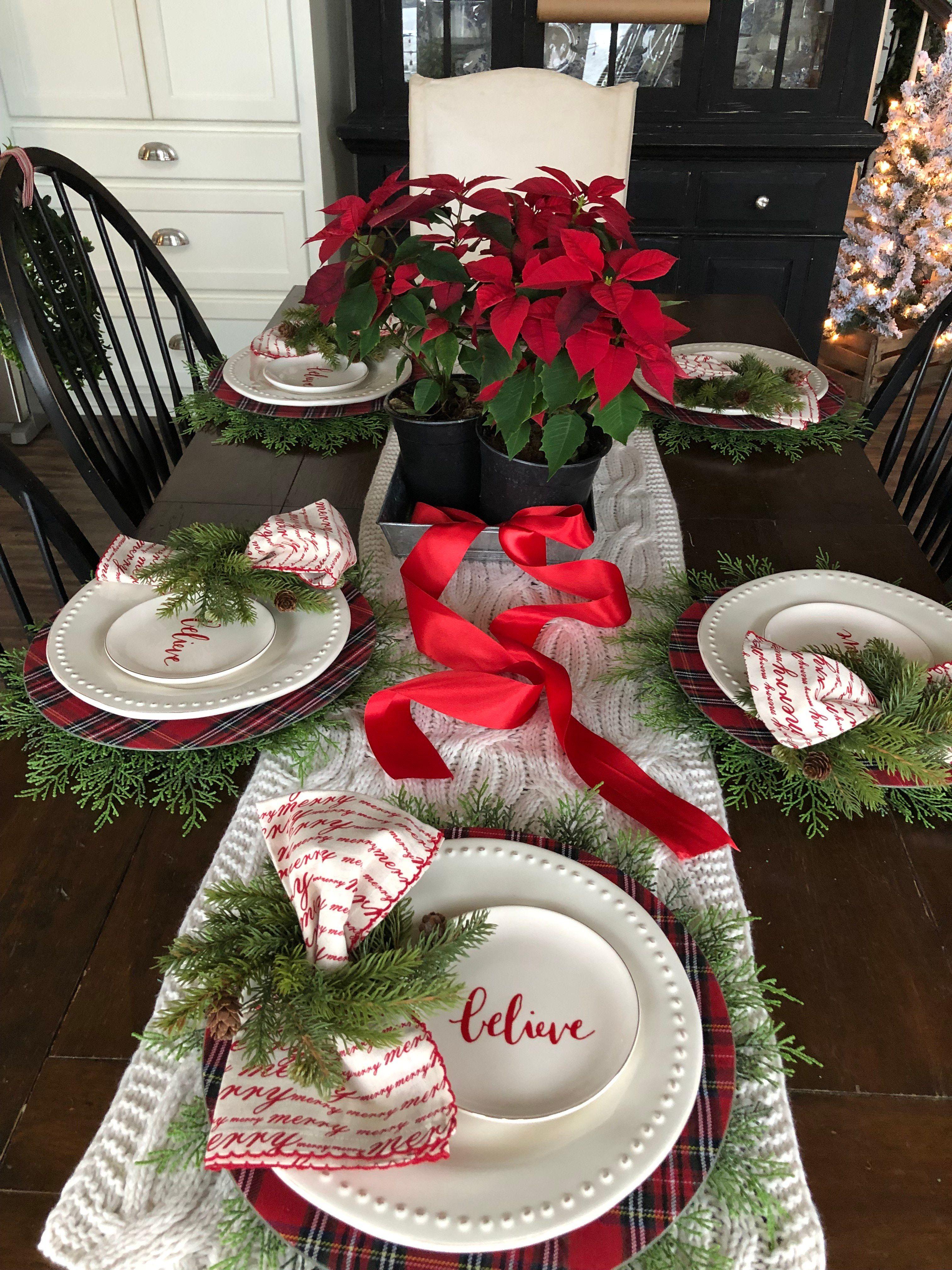 Christmas Table Setting Ideas Holiday Table Decorations Christmas Table Christmas Tabletop