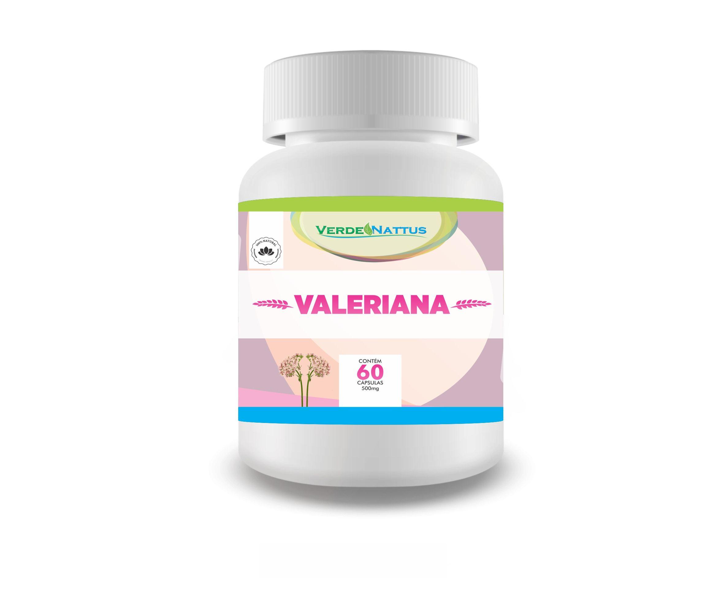 Valeriana 60 Capsulas 500mg Verde Nattus
