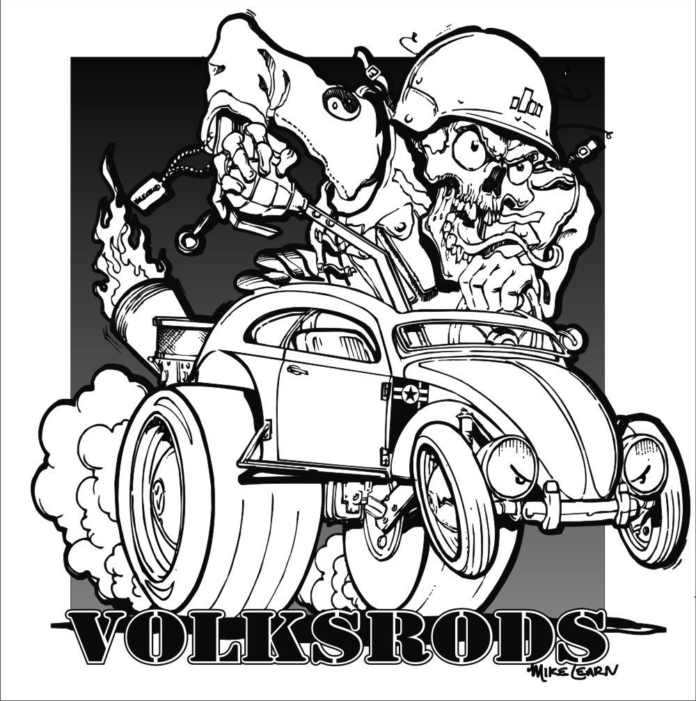 Pin By Julie Erickson On Coloring With The Grandsons Kustom Kulture Art Cars Coloring Pages Colouring Pages