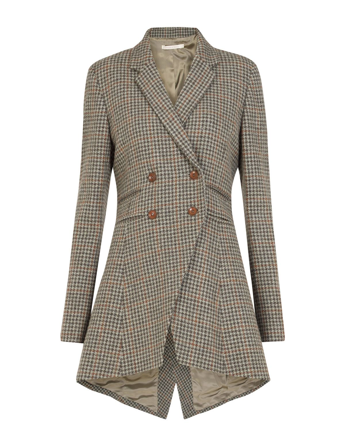 Cabbages & Roses _ Check Flossie Frock Coat __ Cannot see evidence that they ship to North America.  Too bad.