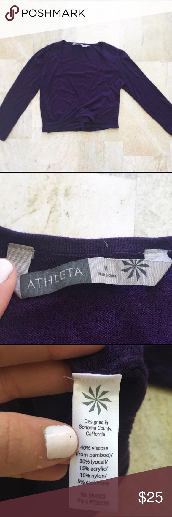 Athleta Purple Wrap Cardigan | Short sleeves, Sleeve and Cardigans