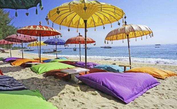Praia em Bali, na Indonésia