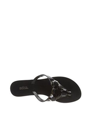 Melissa Women's Color Flat Sandal (Black)