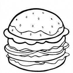 Cheeseburger Coloring Pages Cheeseburger Nathan Pinterest