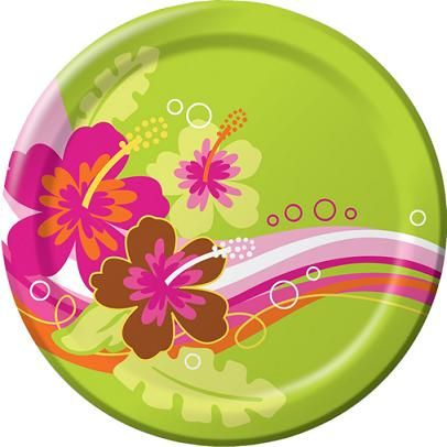 Birthday Party SuppliesCostumesParty Decorations  sc 1 st  Pinterest & Cool paper plates. Luau themed spa party? | luau | Pinterest | Luau ...