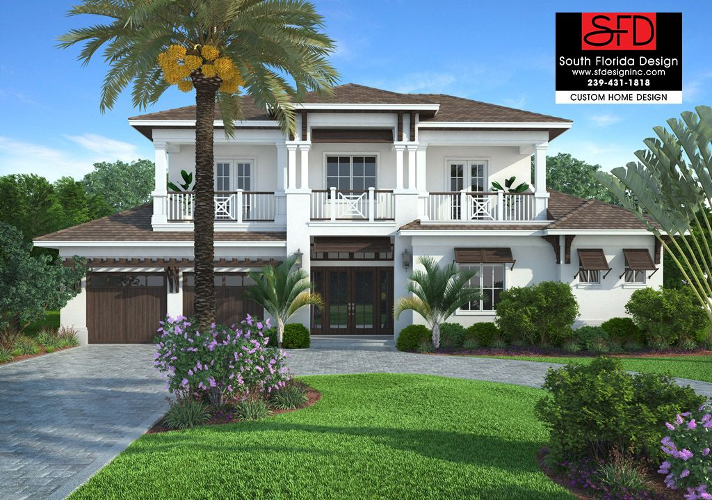 House Edgewater Coastal Contemporary home design with 4