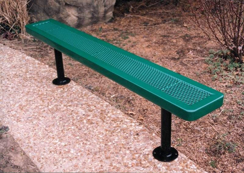 Commercial Iron Metal Park Benches For Sale Vmwcb15innvsm 15ft Bench Without Back Surface Mt Benches For Sale Bench Park Bench