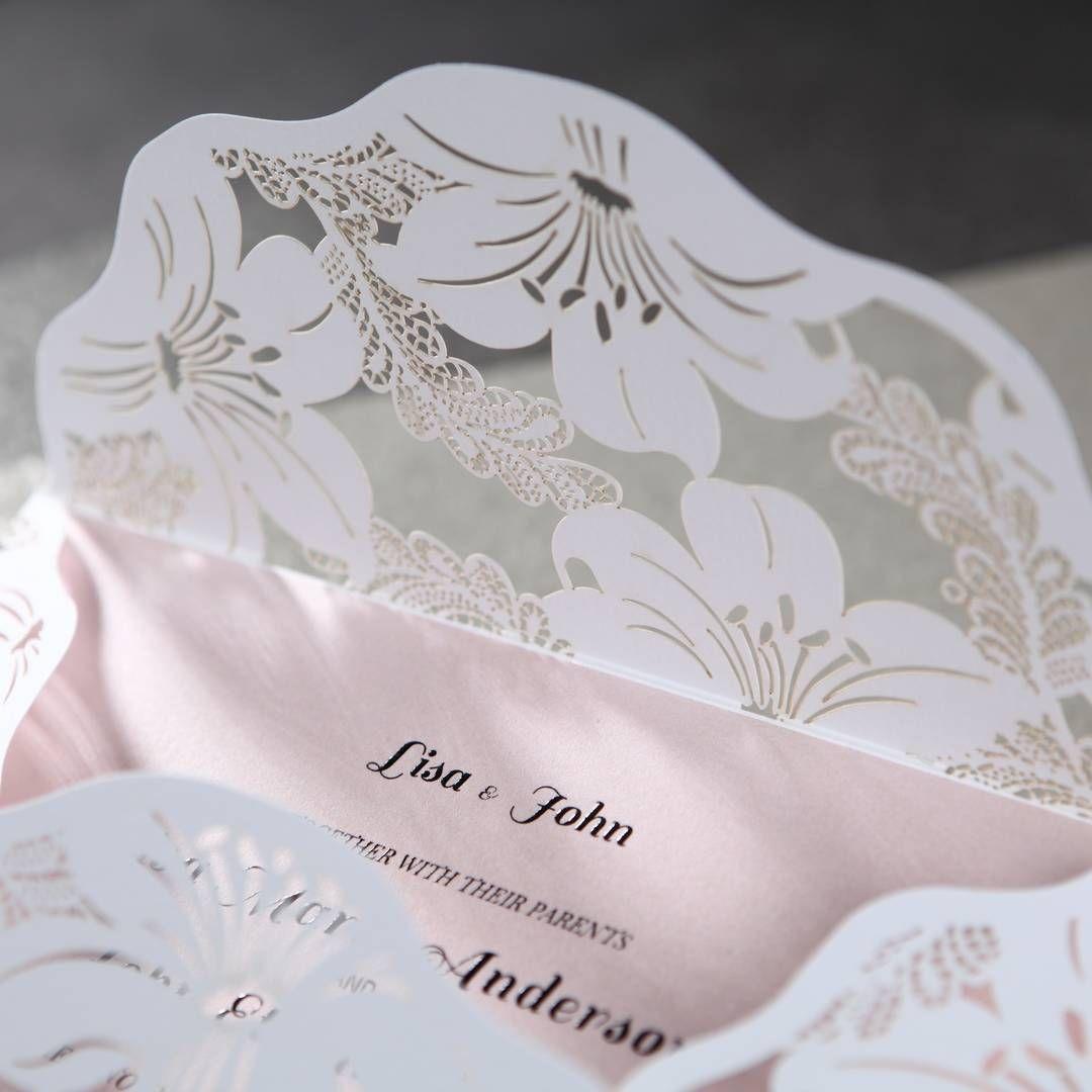 Laser cut wedding invitation Laser cut wedding