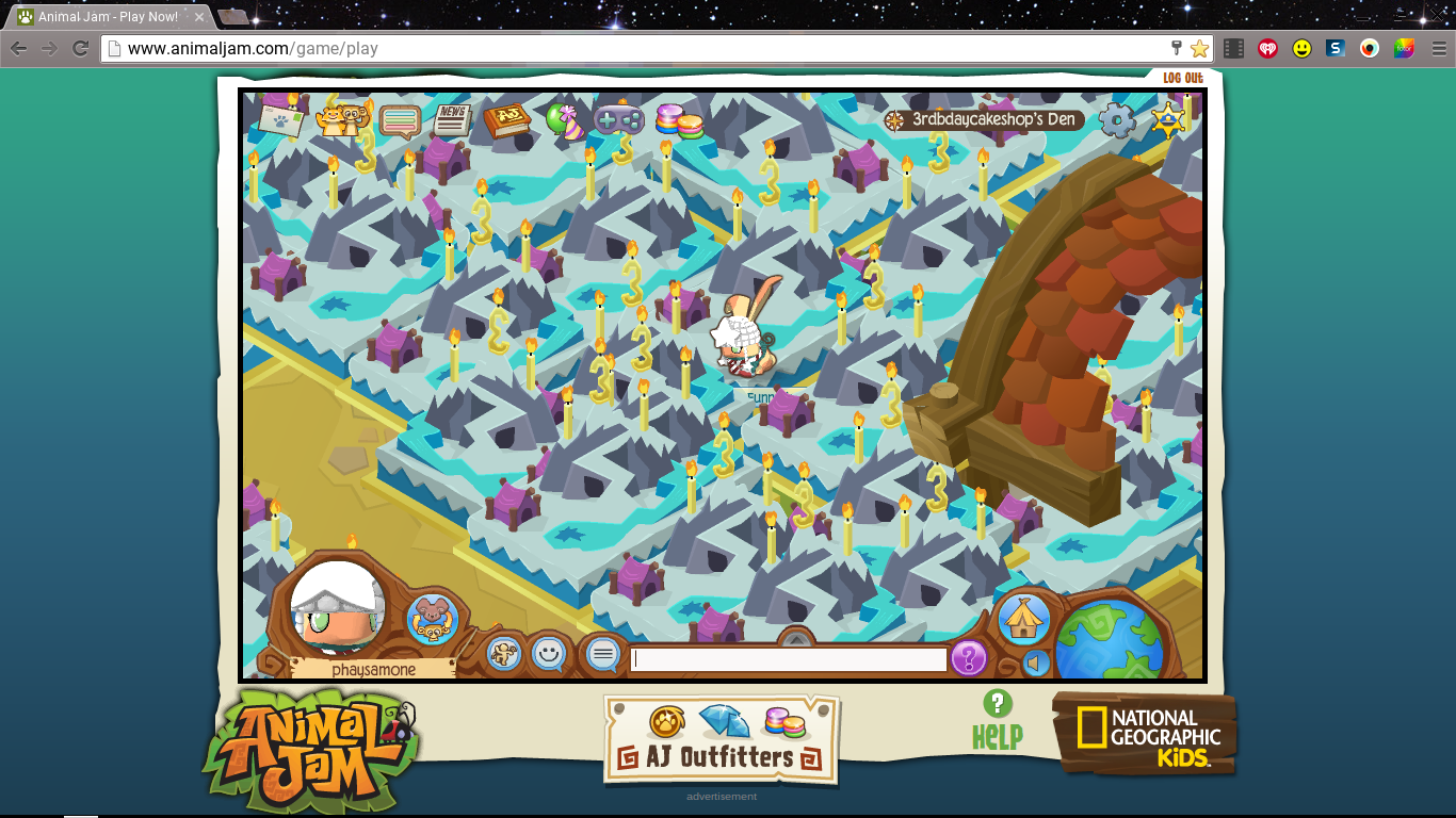 Have you ever seen those 3rd birthday cakes animal jam used to have