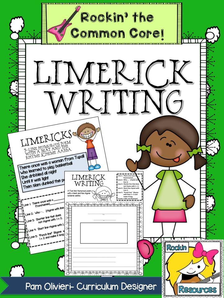 Limerick Writing- FREE! Teachers slides, limerick examples, limerick ...