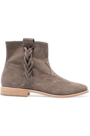 SOLUDOS   Braided suede ankle boots #Shoes #SOLUDOS