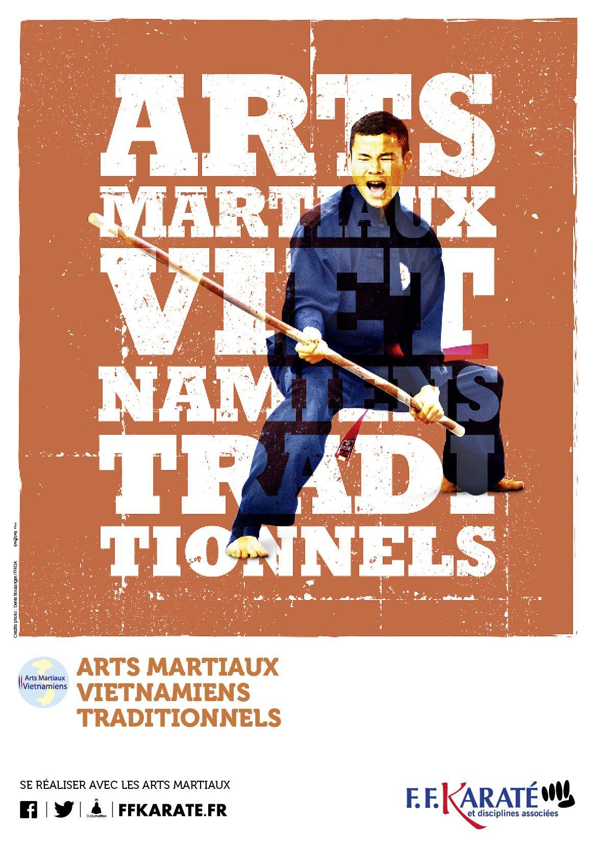 affiche arts martiaux vietnamiens campagne rentr e ffk karat sport design pinterest. Black Bedroom Furniture Sets. Home Design Ideas