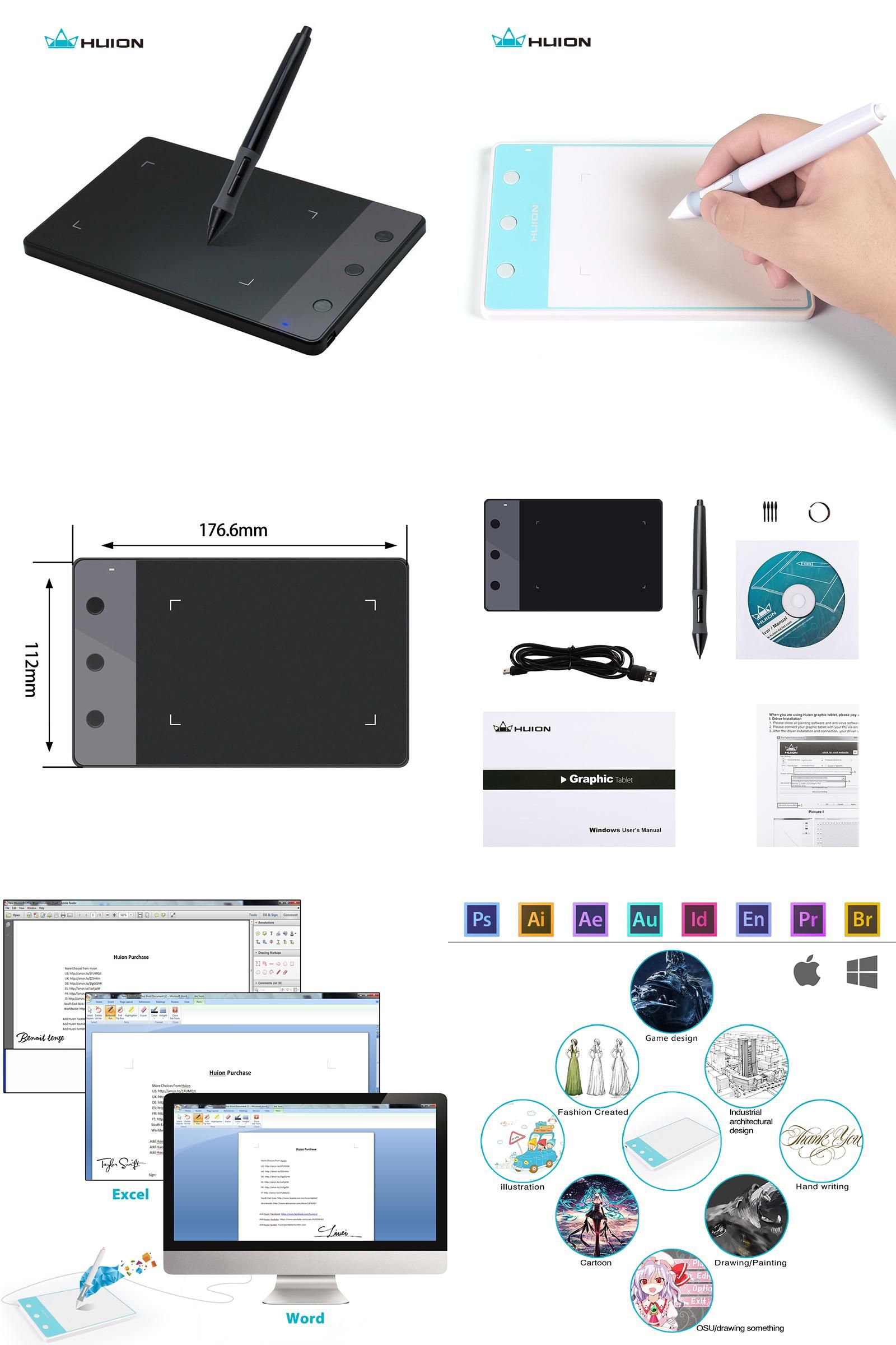 Visit to Buy] New Huion H420 Digital Tablets 4-Inch Painting Pen