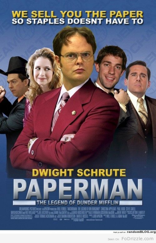 Paperman Starring Dwight Schrute Good Comedy Movies