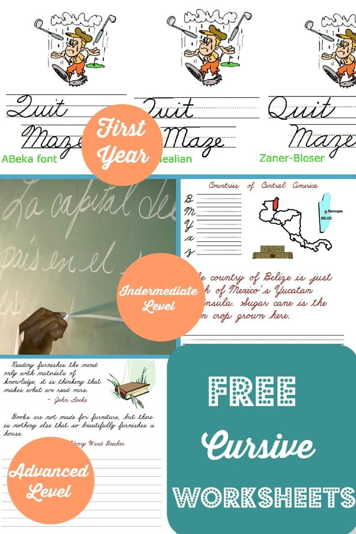 FREE Cursive Writing Curriculum   Cursive, Homeschool and Worksheets
