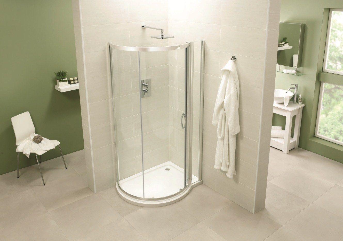 April Identiti2 P Shaped Shower Enclosure 1000