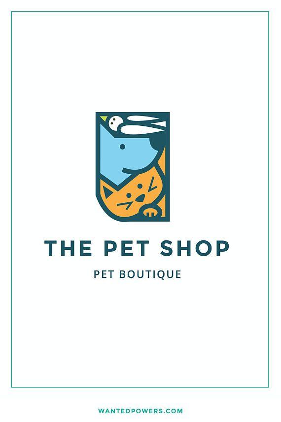 Pet Shop Logo Illustrated Dog Cat And Bird Pet Logo Doglogo