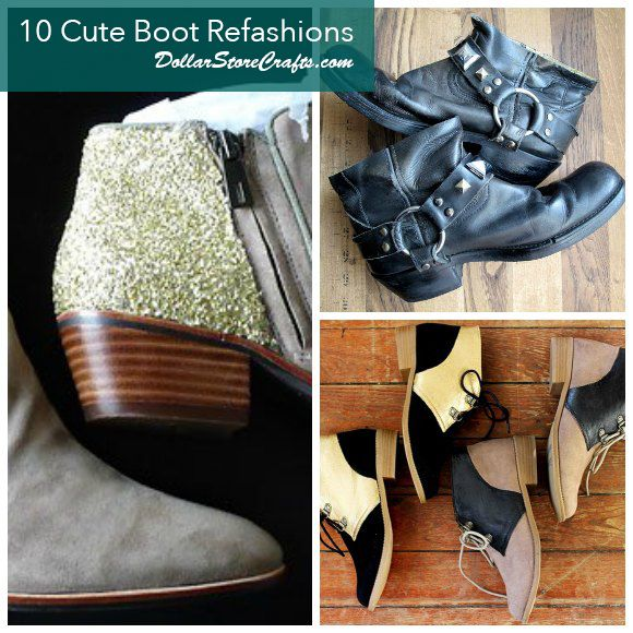 10 Ways To Refashion Old Boots Upcycle Shoes Boots Diy Old Boots