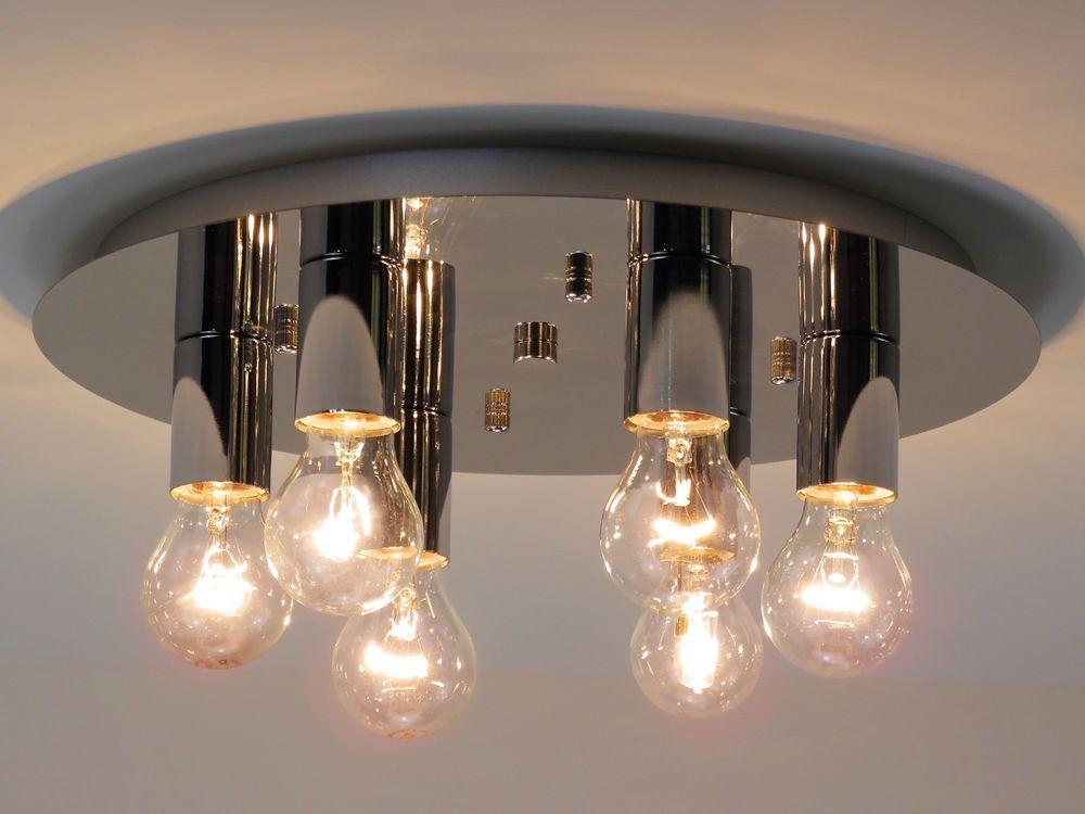 Plafoniere Da Camera : Lampadario plafoniera design moderno cromo camera da letto salotto