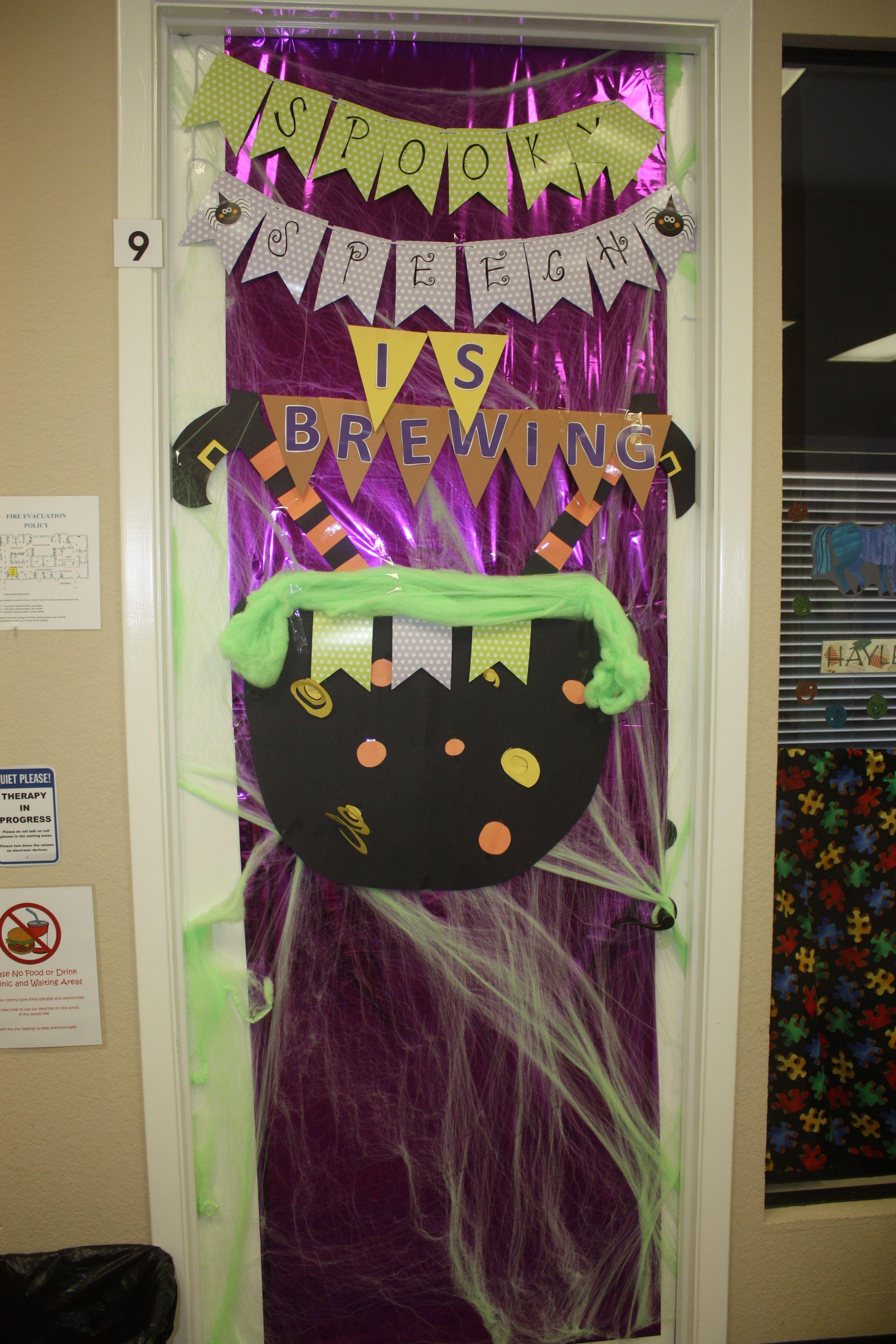 Halloween Door Decorations -- Witch\u0027s Brew Halloween Fun - Halloween Door Decorations
