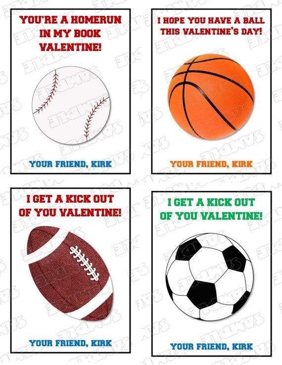Free Printable Sports Valentine Cards – Sports Valentines Cards