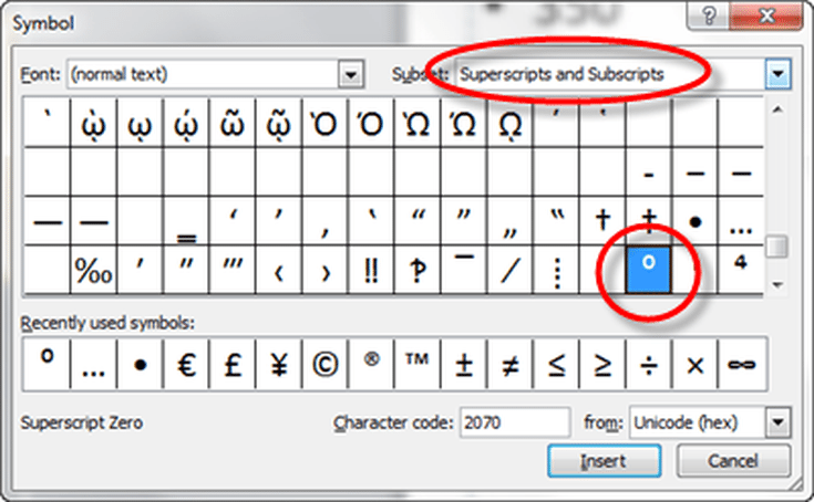 How To Add A Degree Symbol To Power Point Slides Power Point