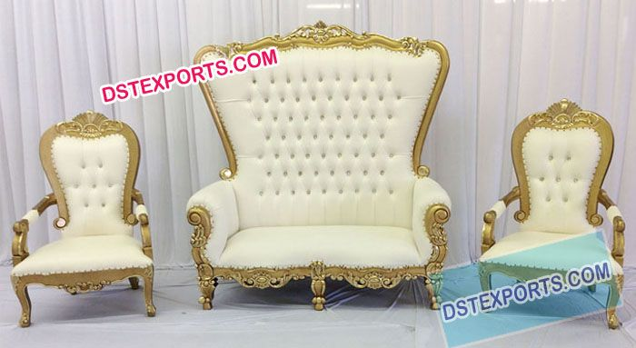 wedding royal golden throne set dstexports wedding bride rh pinterest com
