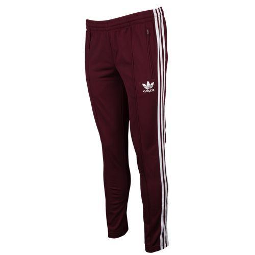 maroon adidas pants