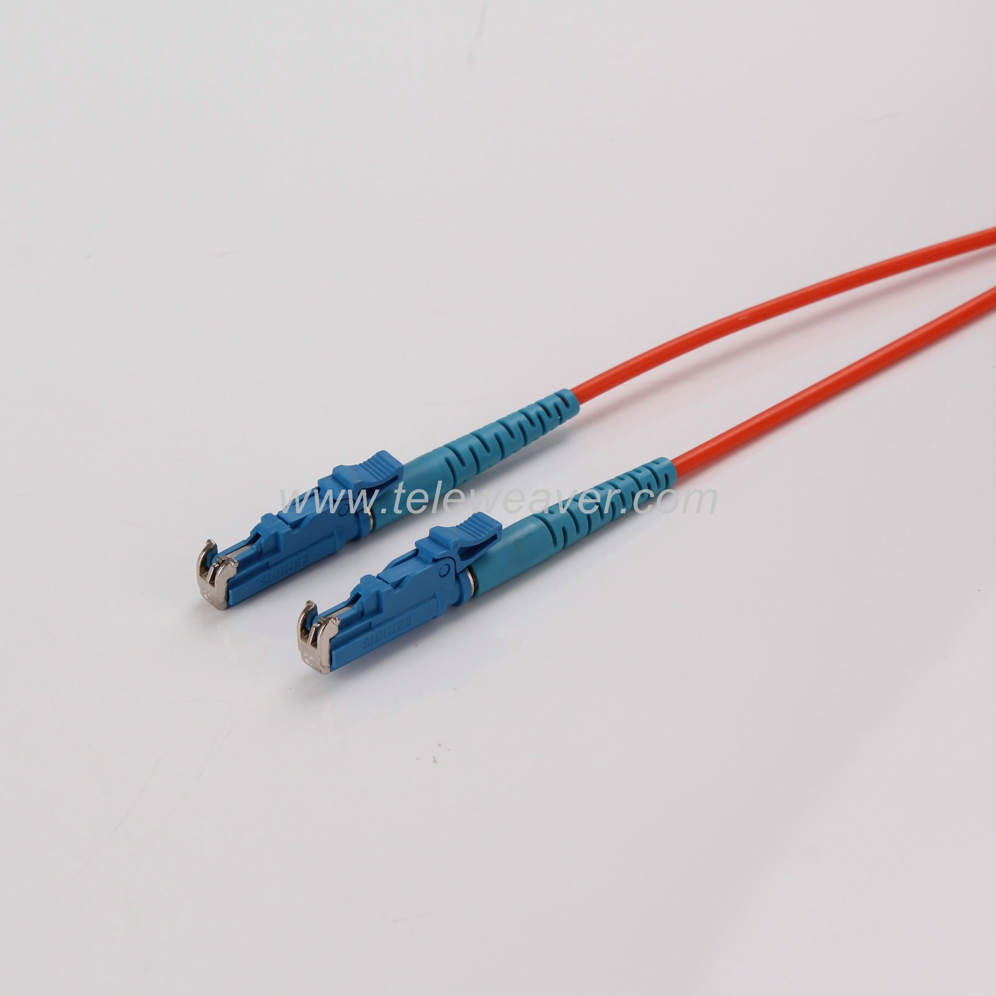 E2000 Pc Simplex 50 125um Multimode Om2 Fiber Optic Patch Cord Patch Cord Fiber Optic Fiber