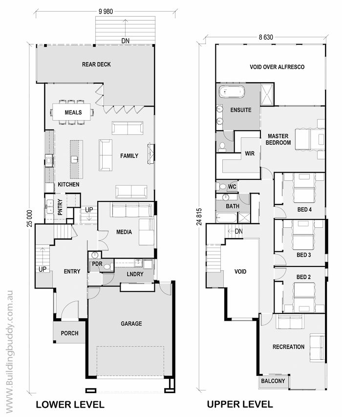 Protea - Small Lot House Floorplan by http://www.buildingbuddy.com ...