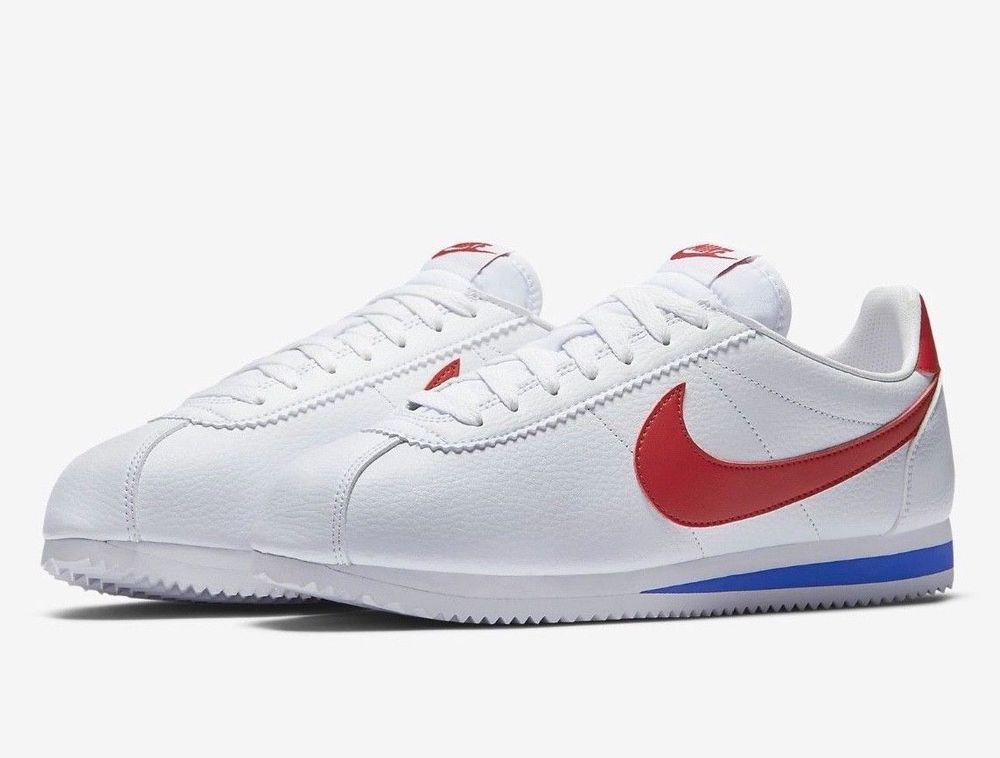 Nike Classic Cortez Leather Shoes Mens 12 White Varsity Red