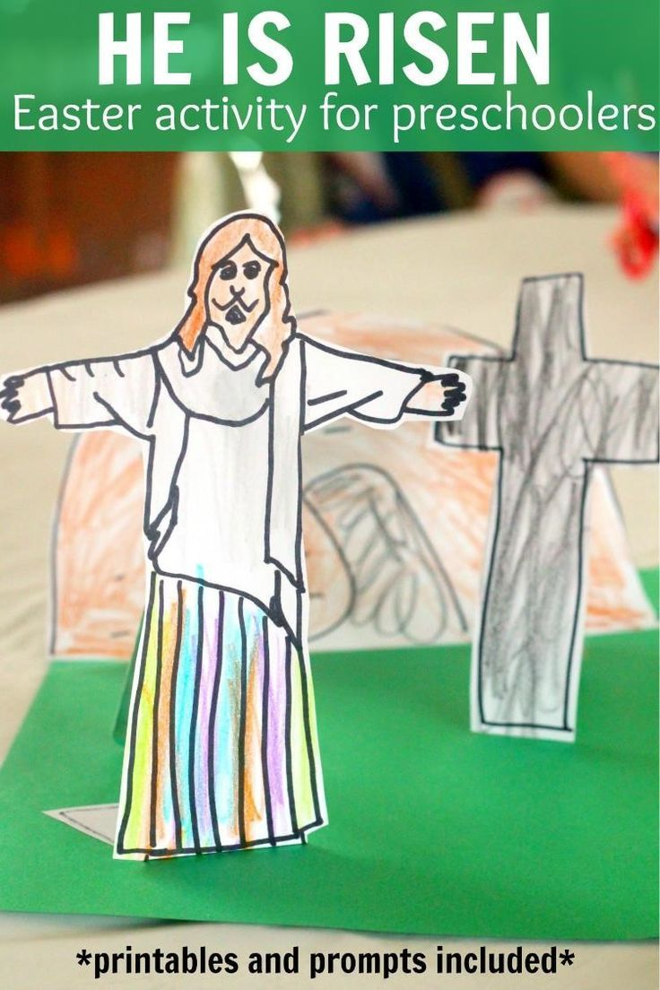 He is Risen activity for Easter for toddlers and preschoolers ...
