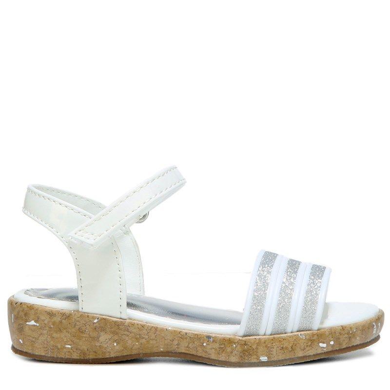 Nine West Kids Kids' Emily Wedge Sandal Toddler/Preschool Shoes (White)