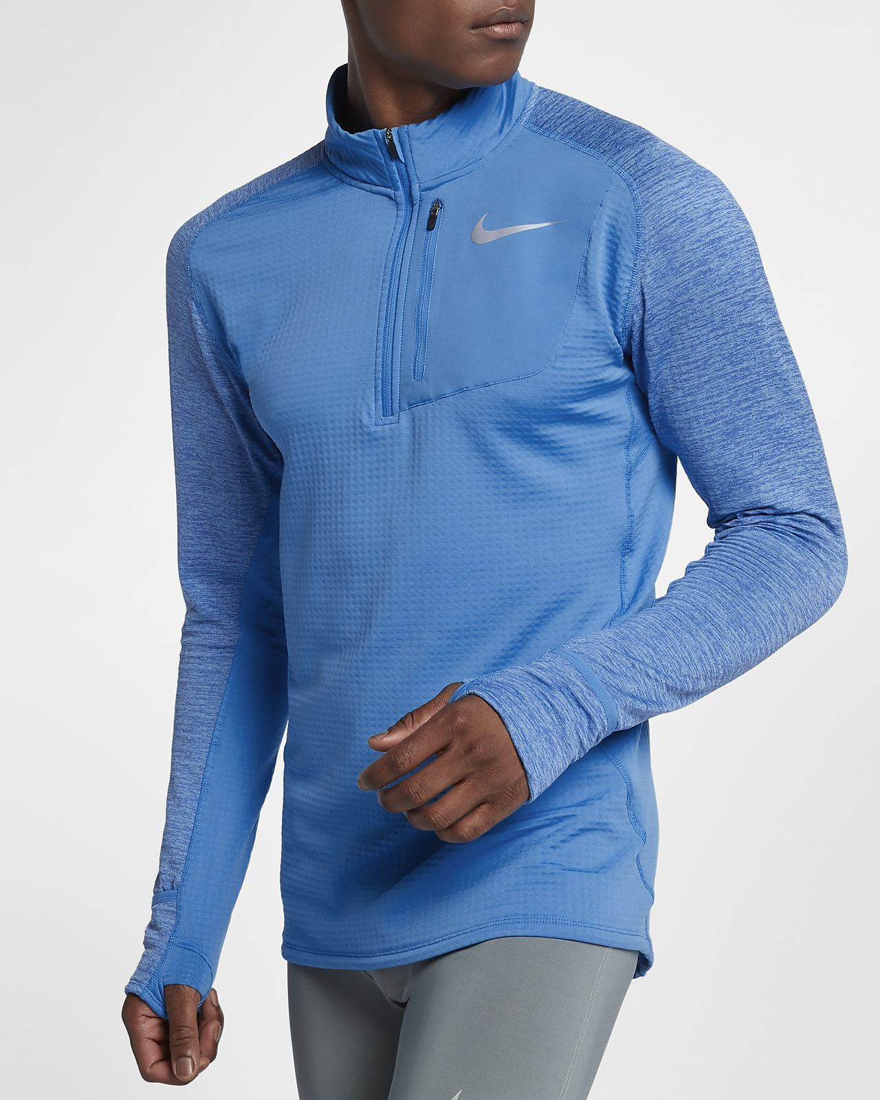 Nike Therma Sphere Element Men's Long Sleeve Half-Zip Running Top - size  small,