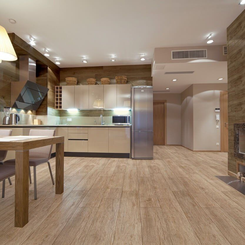 Tile Flooring For Kitchen: Texas Roble Wood Effect Tiles 15 X 90 Cm