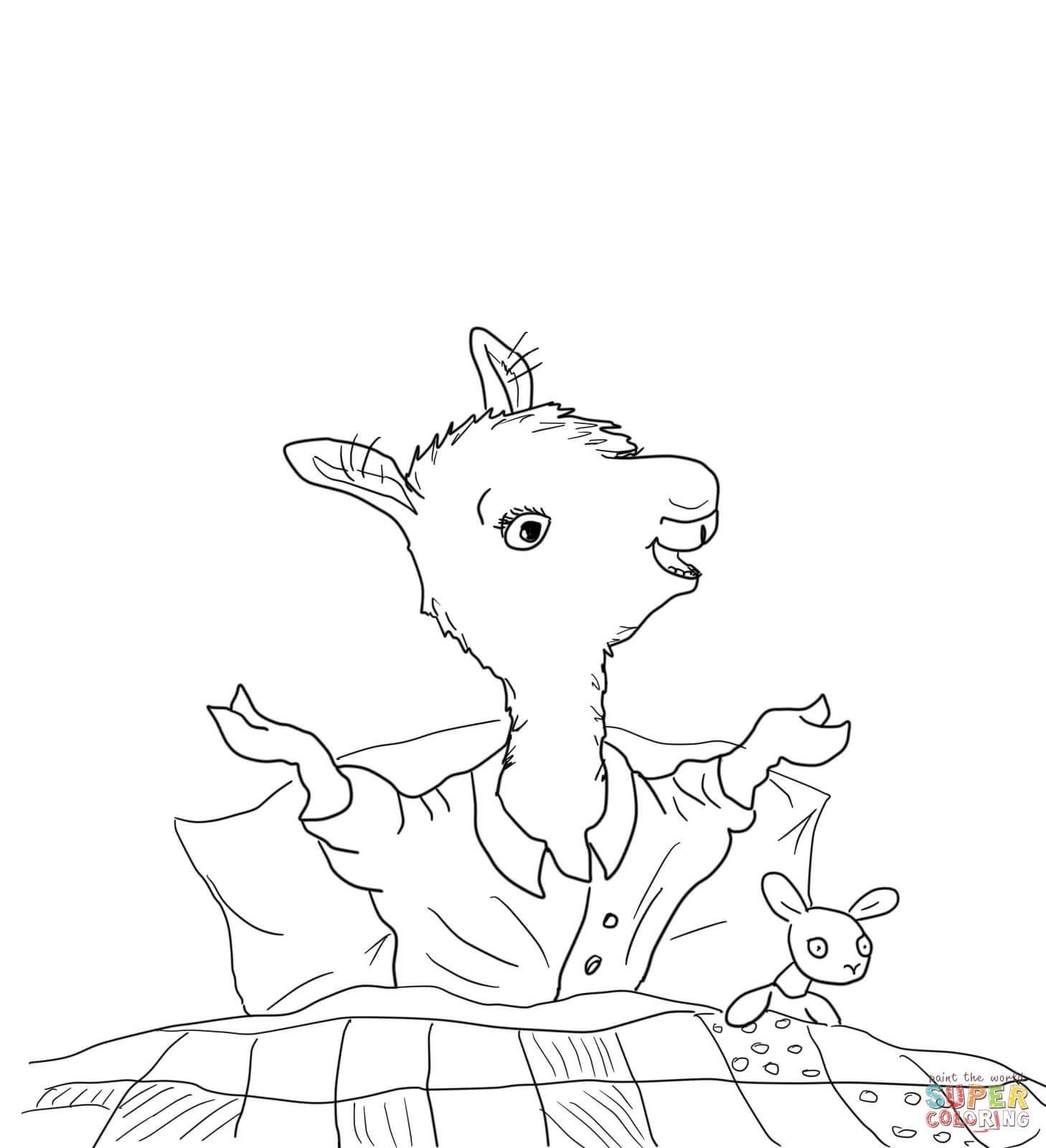 Llama Home With Mama Coloring Page From Category Select 27007 Printable