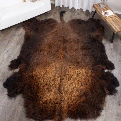 Jumbo Xl Buffalo Robe Bison Hide Rug
