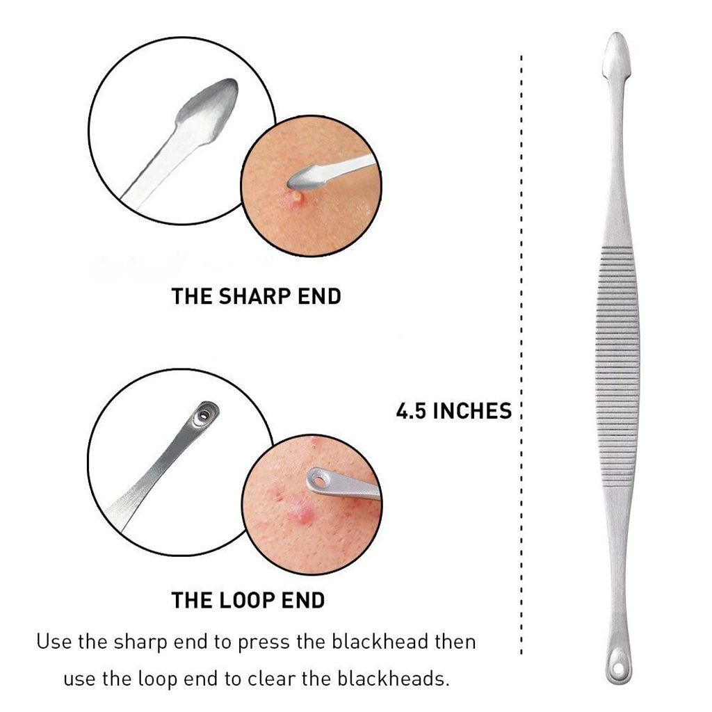 hight resolution of wehous blackhead remover tools kit with builtin mirror acne zit pimple whiteheads blemish comedones beauty salon treatment professional 5 in 1 tools