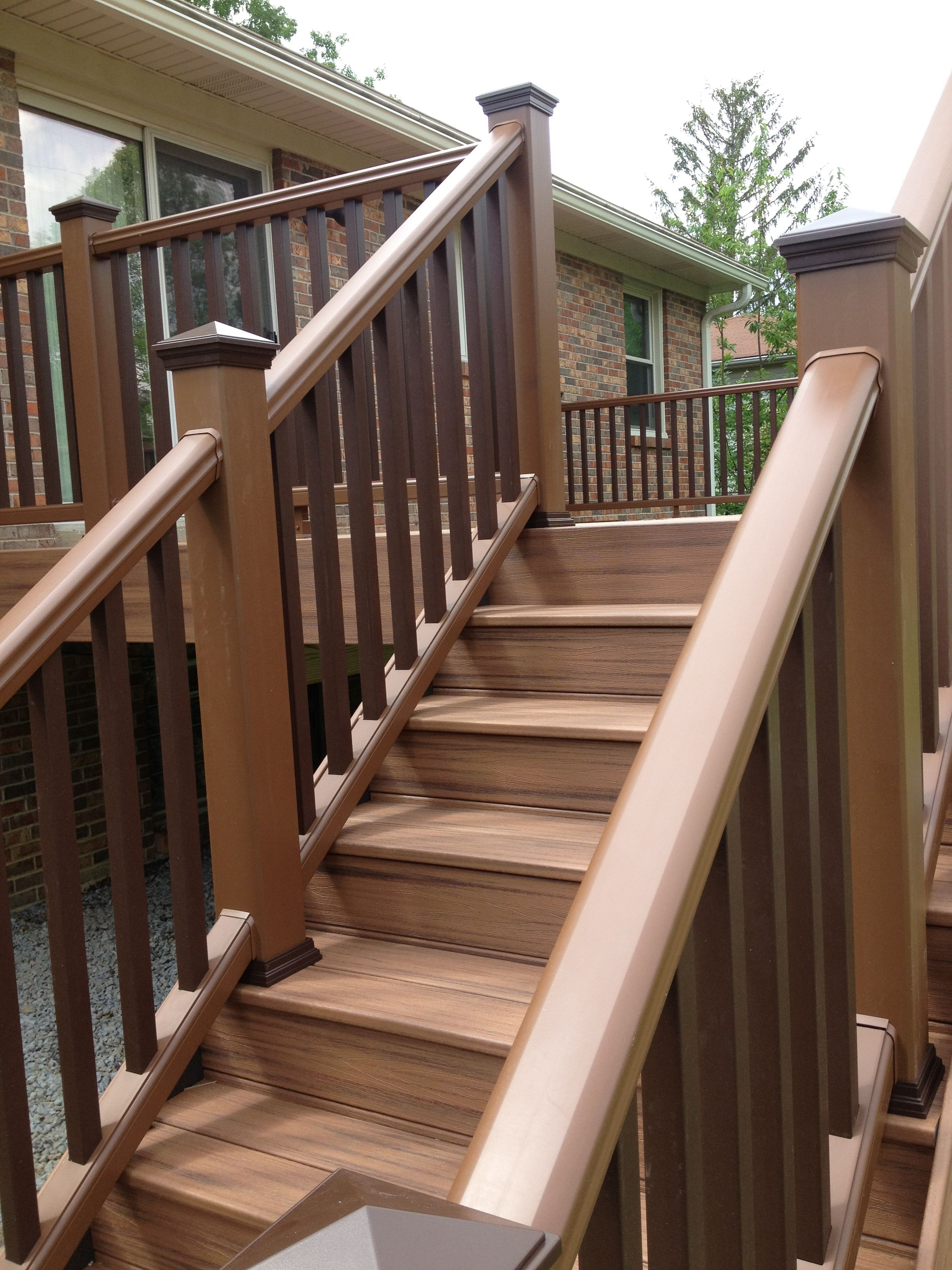 Best Trex Stairs French Doors Patio Stairs Craftsman Staircase 640 x 480