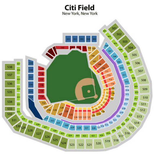 Citi Field Seating Chart Mets Phillies New York Mets