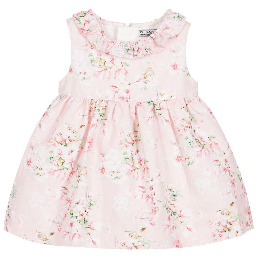 737bcc0d64a Mayoral Baby Girls Linen Blend Floral Dress at Childrensalon.com ...
