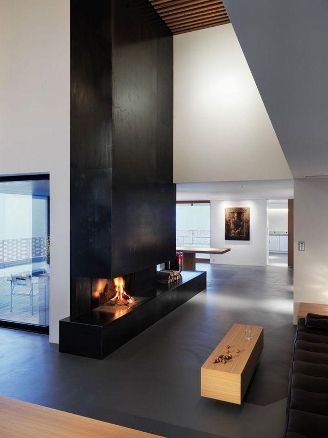 gasbetriebener kamin Bio-Kamin bauen-Schornstein Wohnzimmer - wohnzimmergestaltung
