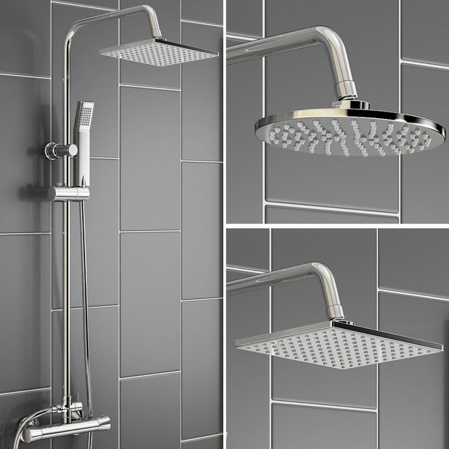 thermostatic shower unit mixer modern bath tap twin head http thermostatic shower unit mixer modern bath tap twin head http cgi ebay